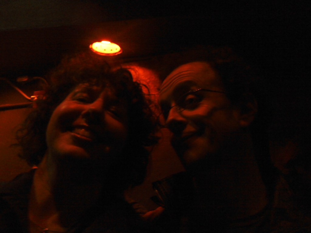 The author and Kevin McDonald, 1/5 of Kids in the Hall, appearing with Scott Thompson at Cobb's in San Francisco.